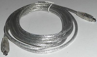3m IEEE 1394 4p male to 4 pin m FIREWIRE CABLE Lead/wire/cord NEW 10ft pc camera