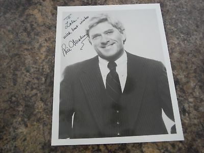 Phil Donahue Autographed 8x10 Hand Signed Talk Show Host PERSONALIZED