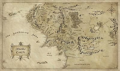 Lord of The Rings Map Art Silk Poster 8x12 24x36 24x43