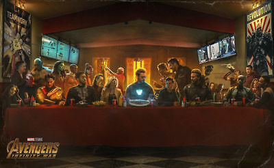 Avengers Infinity War Last Supper Art Silk Poster 8X12 24x36 24x43