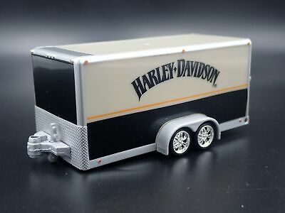 Harley Davidson Voiture Camion Trailer W/Ouvrables Porte 1:64 Echelle Diorama