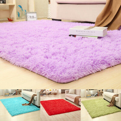 Excellent Colorful Long Plush Non Slip Soft Mat Thicken Washable Home Rugs Bedroom Carpets Interior Design Ideas Oteneahmetsinanyavuzinfo