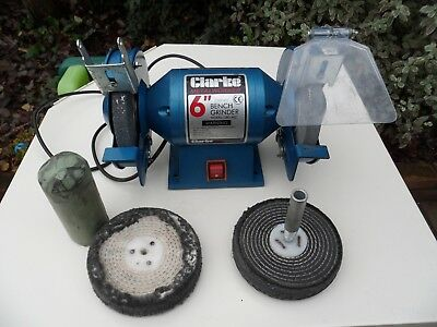 Miraculous Clarke Metal Worker Bench Grinder With Polishing Kit 150Mm Beatyapartments Chair Design Images Beatyapartmentscom