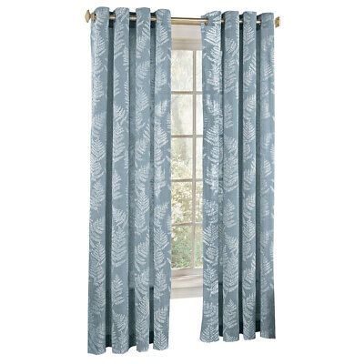 Fossil Fern Pattern Semi-Sheer Window Curtain Panel, by Collections Etc