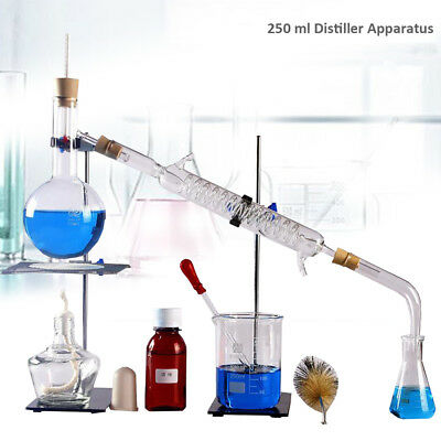 100ml-2000ml Lab Essential Oil Distiller Apparatus Water Purifier Glassware Set