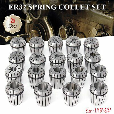 """ER32 Collet 25Pcs Set 1//16/""""-3//4/"""" by 16th and 32nd Industrial Grade Accurate USA"""