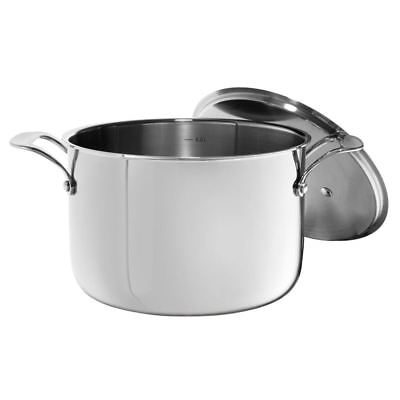 Blinq - Trico Tri Ply Stainless Steel Stock Pot 7Ltr with Lid 24cm