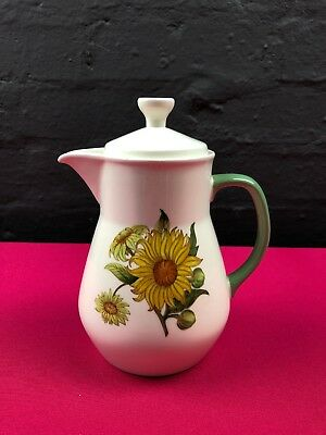 "Wedgwood Sunflower Small Coffee Pot 7"" High"