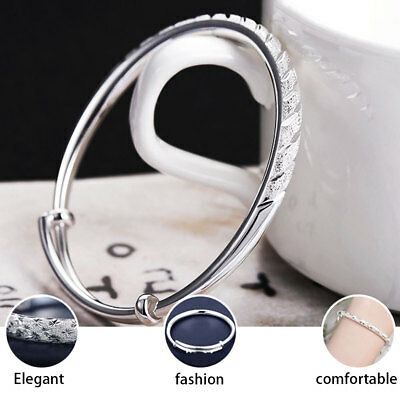 925 Sterling Silver Bangle Bracelet Charm Ladies Womens Jewellery Xmas Gifts