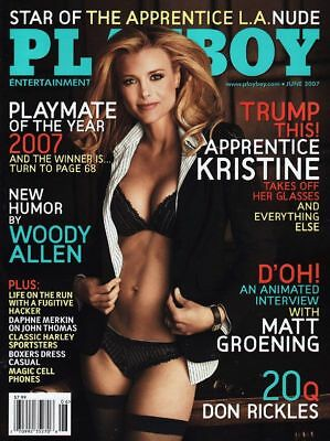Playboy Magazine - June 2007 - Kristine Lefebvre Apprentice - NEW SEALED - RARE!