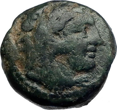 ALEXANDER III the Great 336BC Ancient Greek Coin Hercules Bow Club  i74195