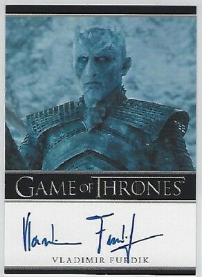 Vladimir Furdik Autograph as the Night King from Game of Thrones Season 7