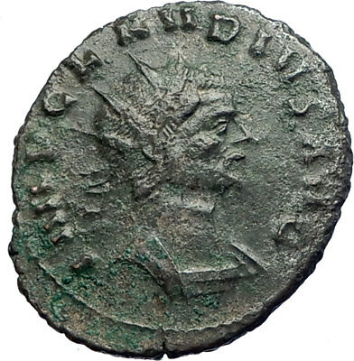 CLAUDIUS II Gothicus  w spear & globe 269AD Ancient Roman Coin  i74203