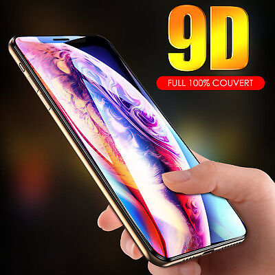 9D Vitre Verre Trempé Film protection d'écran iPhone XR X XS MAX 6S/6/7/8 LOT
