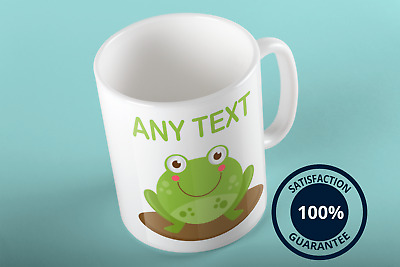 Personalised Frog Mug Tea Coffee Cup Customise Present Funny Gift