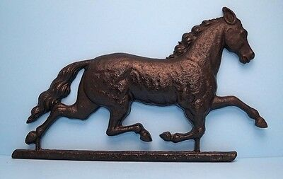 Antique Running Horse Cast Iron Trade Sign Equestrian Weather Vane Form