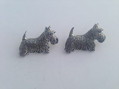 Scottish Terrier Scottie Dog  Fine English Pewter Cufflinks Gift Mens Boxed