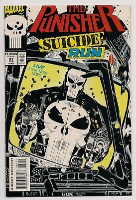 "Punisher (1987 2nd Series) #87 NM ""Suicide Run"" Marvel Comics"