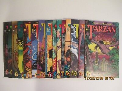 Lot Of (15) Tarzan Edgar Rice Burroughs Malibu Comics