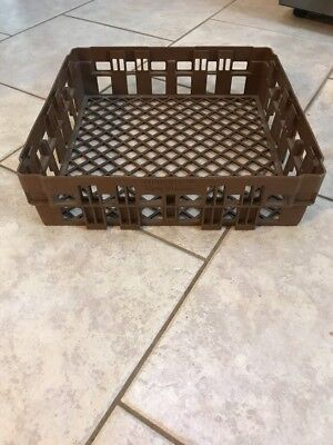 Dolly Madison Bottle Caddy, Tote, Crate Brown Plastic Made USA Vintage