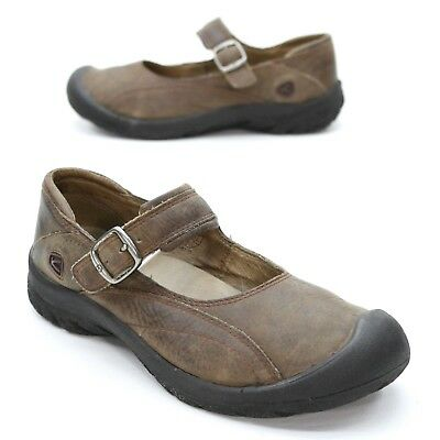 a0140de146c9 Keen Ladies 6.5 (37) Brown Leather Mary Jane Comfort Toe Cap Walking Shoes