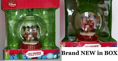 Disney store 2013 Mickey Minnie Pluto special Limited Edition Glass Ornament NEW
