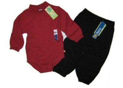 GYMBOREE Baby Boy Red Turtleneck Top & Black Fleece Pants Sz 12-18 mos,  NWT