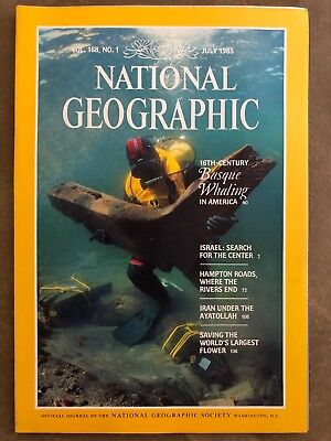 National Geographic Magazine July 1985 Vol. 168, NO. 1 Basque Whaling in America