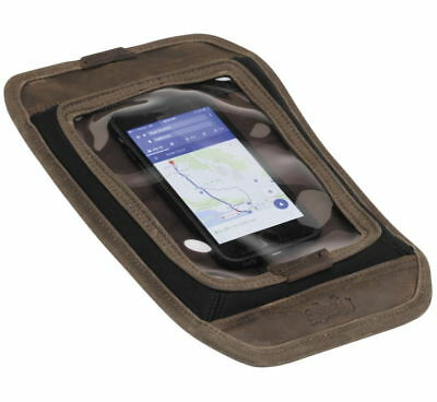Burly Brand Magnetic Voyager Tank Pad Phone GPS Pouch Waxed Cotton w/ Leather