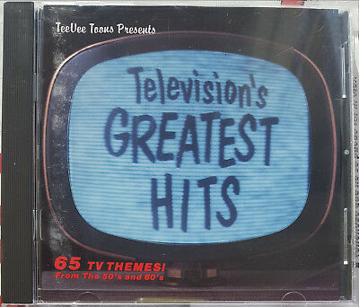 """2CDs Television's Greatest Hits """"65 Themes! From 50's And 60's"""" """"Remote Control"""""""