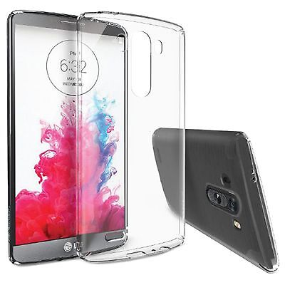 Ultra Thin Clear Transparent Soft TPU Silicone Back Case Shell Skin For LG G3