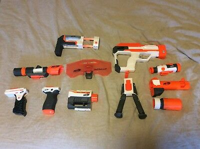 Nerf Gun Modulus Accessories/Add-ons Lot of 11 | Grips, Scopes, Barrels and More