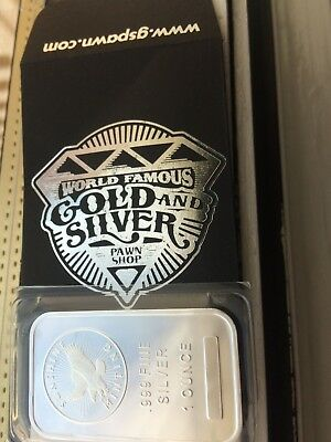 Sunshine Minting Inc.1 Troy Ounce .999 Fine Silver Bar- From The Pawn Stars Shop