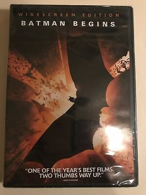 Batman Begins Christian Bale Widescreen DVD New Factory Sealed