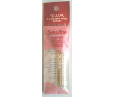 Sewline 6 Yellow Refill Leads In Case - For Sewline Mechanical Fabric Pencil