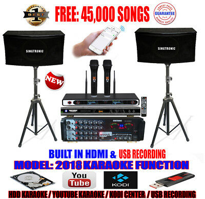 Singtronic Complete Professional 1000W Karaoke System with FREE: 45,000 Songs
