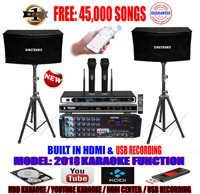 Singtronic Complete Professional 1200W Karaoke System with FREE: 45,000 Songs