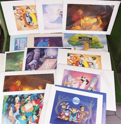 20 Disney Store Exclusive Commemorate Lithograph Litho Lithographien