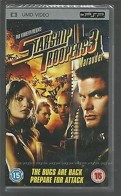 STARSHIP TROOPERS 3 : MARAUDER - sealed/new - UK PSP UMD VIDEO