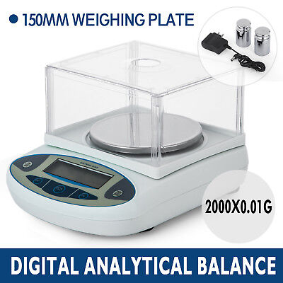 2000x0.01g 10mg Lab Balance Electronic Scale Analytical Jewellery LCD PRO