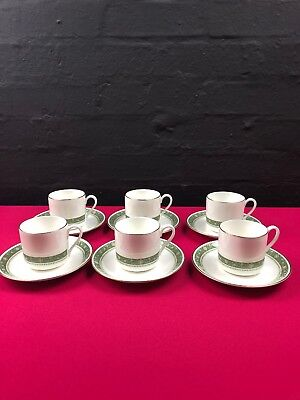 6 x Royal Doulton Rondelay H5004 Coffee Cups and Saucers