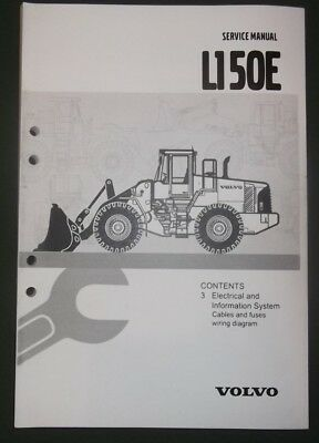 volvo l150e wheel loader electrical system service shop manual set (3 vol)