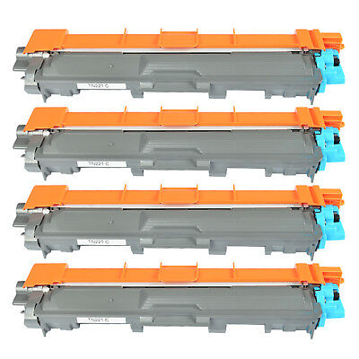 4 PK TN221C TN221 Cyan Toner Cartridge Compatible for Brother MFC-9130CW Printer