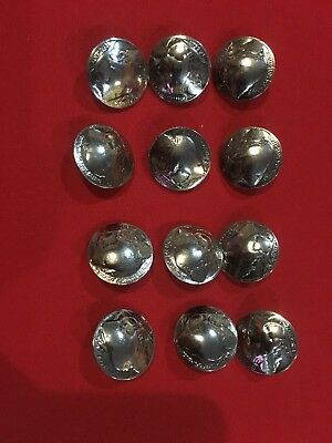 12 Vintage Buffalo Nickel Buttons