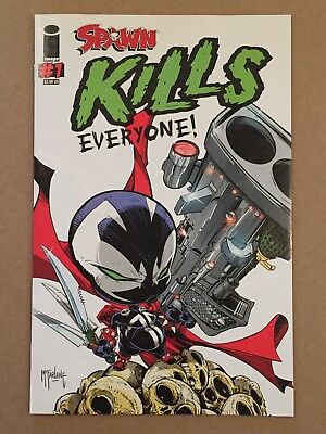 SPAWN KILLS EVERYONE #1 'A' TODD McFARLANE COVER 1ST PRINTING NM IMAGE 2016