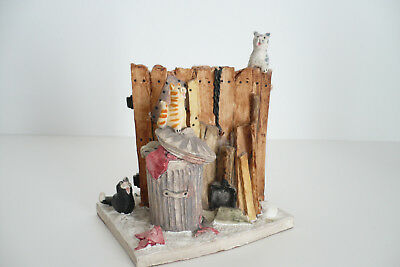 Peter Fagan Collection Colourbox Cat Katzen On The Fence HS021