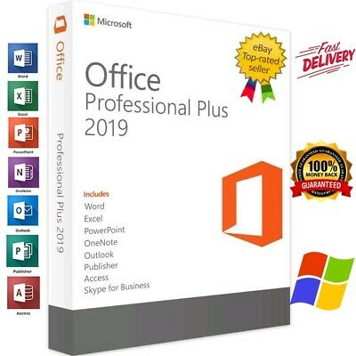 Microsoft Office 2019 Pro Plus 32/64 Bit Lifetime License Genuine Key 🔥 For 1PC