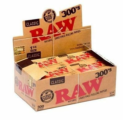 RAW 300's Classic Natural Unrefined Rolling Papers 1 1/4 - (4 Packs)