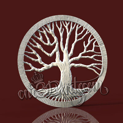 3D Model STL CNC Router Artcam Aspire Family Tree Life Amulet Panel Cut3D Vcarve
