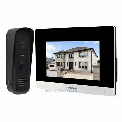 HOMESECUR Premium Intercom with 7'' Video Display and IR Camera Motion Detection